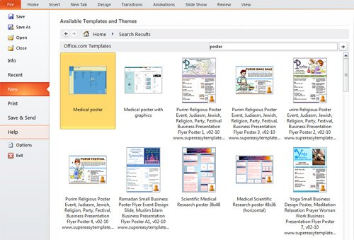 Presentation tip how to create a poster in powerpoint for Creating a template in powerpoint 2010