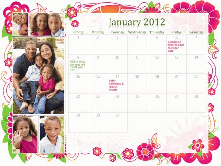 Family Calendar Template