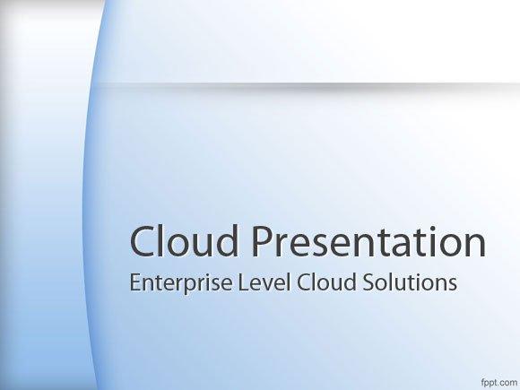 best cloud computing powerpoint templates powerpoint