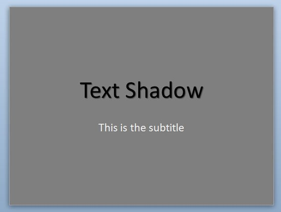 title or shape where we want to change the text shadow properties