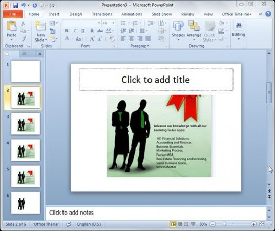 how to make only one slide portrait in powerpoint 2016