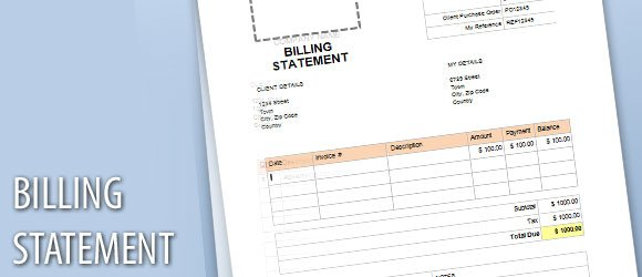 payment statement template .