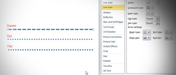 how to make the lines in powerpoint appear