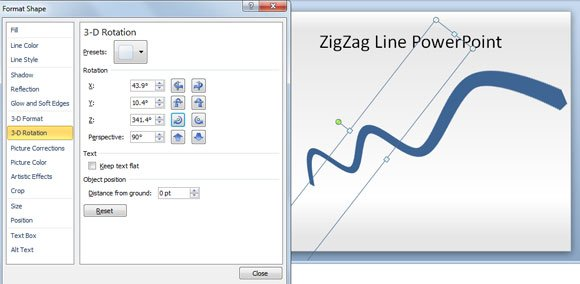 Drawing Lines With Powerpoint : How to make a zig zag line in powerpoint