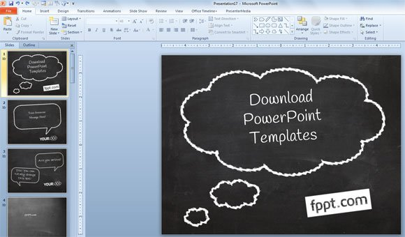 how to create a simple powerpoint blackboard presentation