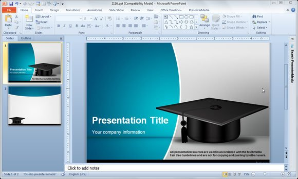 apa format for presentations