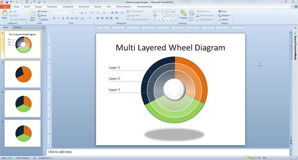 Wheel Powerpoint Template Wheel Chart Template