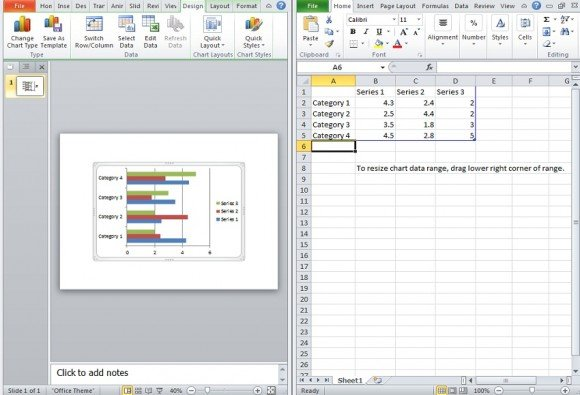 How To Prepare Data For Bar Graphs In PowerPoint 2010