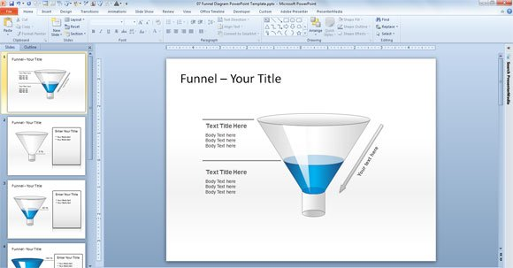 funnel powerpoint template free