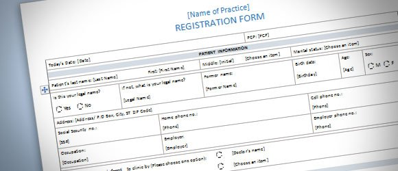 patient registration form template for word 2013 powerpoint presentation. Black Bedroom Furniture Sets. Home Design Ideas