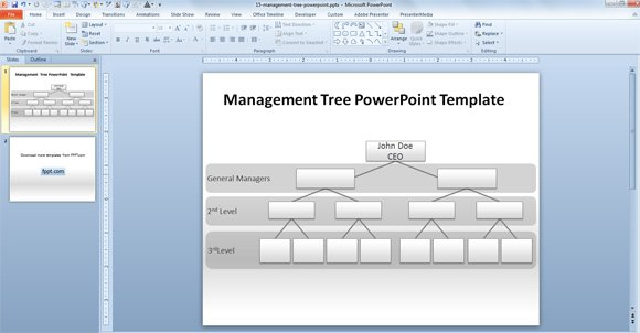 How To Make A Management Tree Template In Powerpoint From