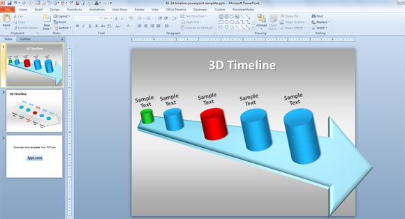 Roadmap Powerpoint Template Free Download