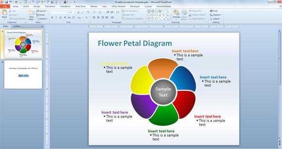 microsoft diagram templates process flow diagram microsoft word editable flower petal powerpoint template | powerpoint ...