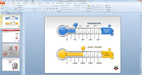 Animated Goal Chart Template for PowerPoint | PowerPoint Presentation