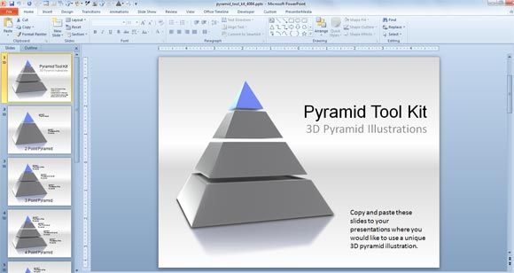 3d pyramid powerpoint templates toolkit powerpoint presentation. Black Bedroom Furniture Sets. Home Design Ideas