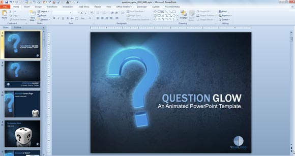 Powerpoint template question and answers toneelgroepblik Images