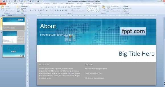 how to create a powerpoint template 2013 - how to make a leaflet powerpoint template powerpoint