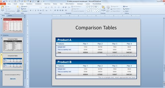 Product comparison template powerpoint toneelgroepblik Choice Image