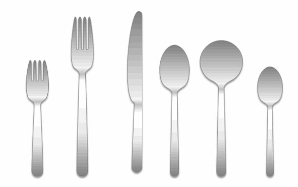 Free download formal place setting template for Microsoft PowerPoint.