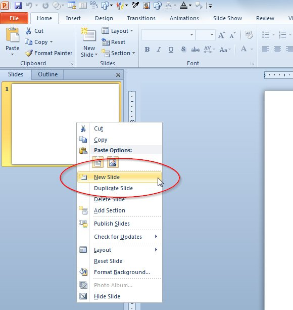 how to get powerpoint slides on one page