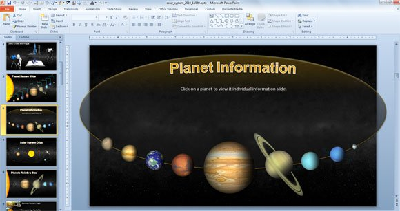 powerpoint presentation on planets - photo #16