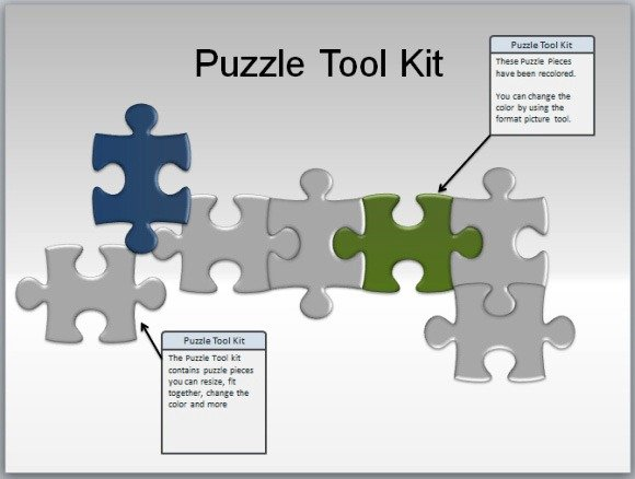 How To Make A Puzzle in Microsoft PowerPoint Using Shapes | PowerPoint ...