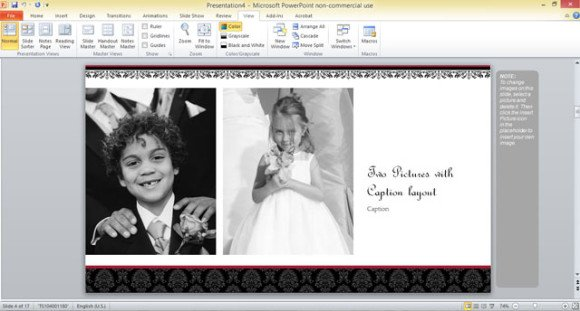 Create a photo slideshow in PowerPoint