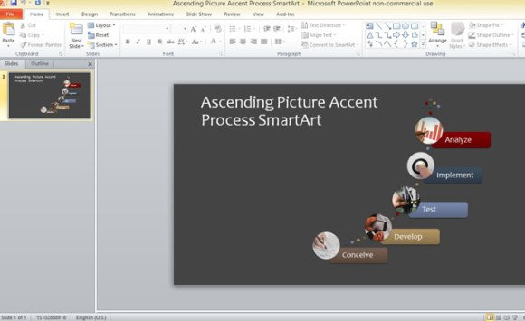 business process template for powerpoint 2013 using smartart graphics
