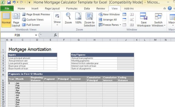 home mortgage calculator template for excel powerpoint presentation. Black Bedroom Furniture Sets. Home Design Ideas