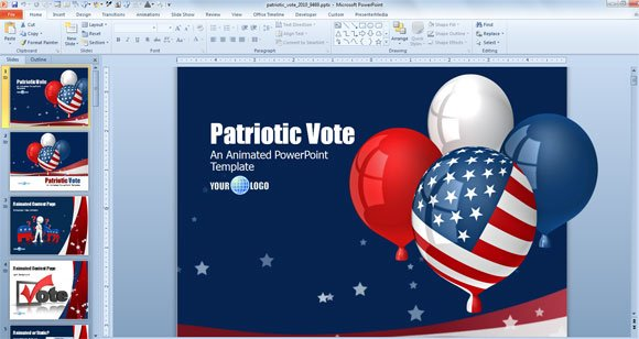 good independence day powerpoint templates for july 4th