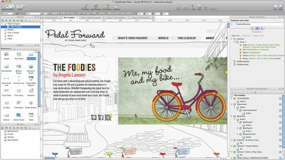rp templates free - design interactive html prototypes for web and apps with