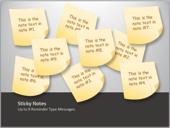 animated sticky notes template toolkit for powerpoint powerpoint presentation. Black Bedroom Furniture Sets. Home Design Ideas
