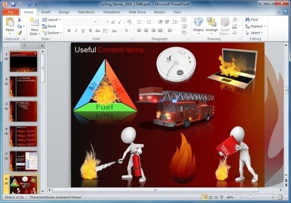 Safety powerpoint template gerhard leixl this free fire flame powerpoint template background is a free abstract theme with fireflame design theme that you can download and use for fire emergency or toneelgroepblik Gallery