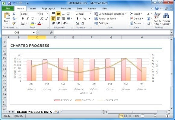 Blood Pressure Tracker Template For Excel | PowerPoint Presentation