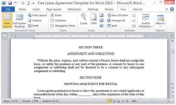 month rental agreement template .