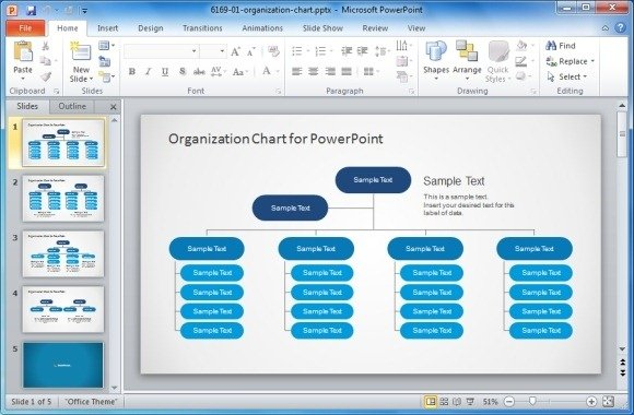 Microsoft office organizational chart template 2
