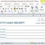 petty cash receipt template free .