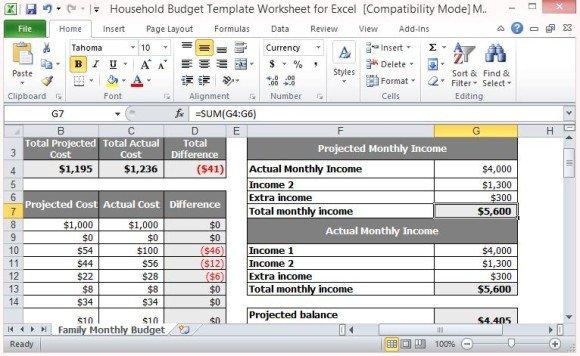 Spending Plan Templates
