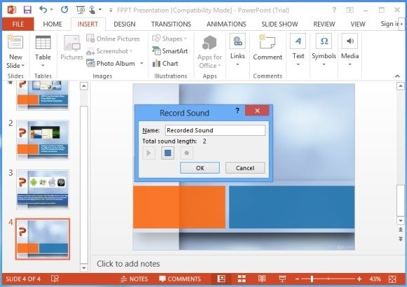 how to add song to powerpoint 2013