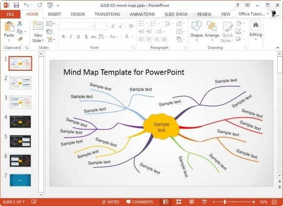 Concept map templates for powerpoint powerpoint presentation for Mind map template powerpoint free download