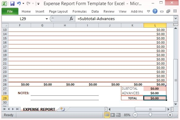 excel expense report template .