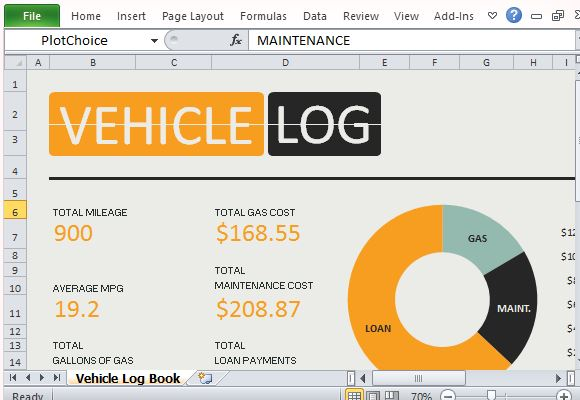 Calculate Mileage And Fuel Expenses With Vehicle Log Book