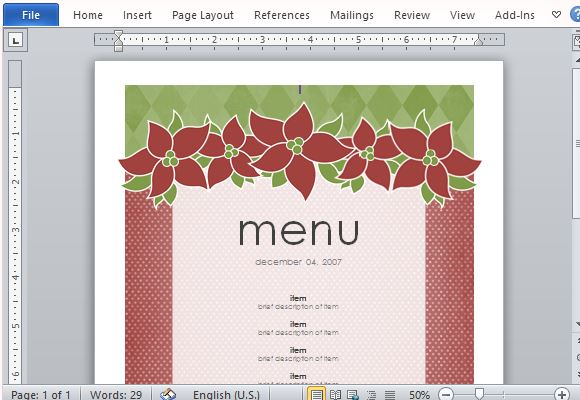 Best Menu Maker Templates For Word | PowerPoint Presentation