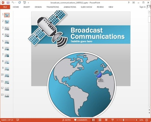 Animated Telecom PowerPoint Templates With Worldmap ...