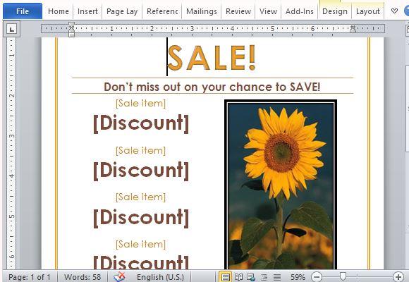 Sale Announcement Template Your Sale Announcement