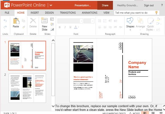 how to make a brochure on powerpoint