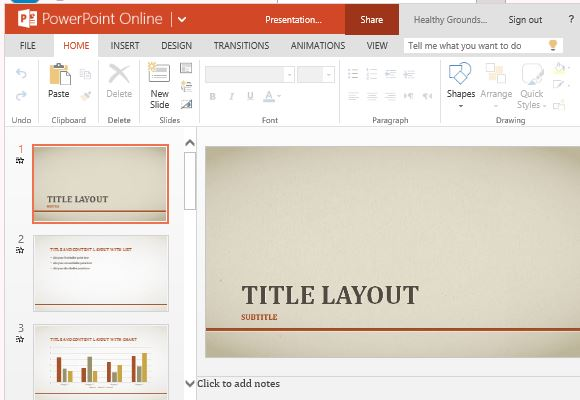 Powerpoint line and trends charts picture