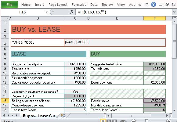 Lease Vs Finance Calculator  NinjaTurtletechrepairsCo