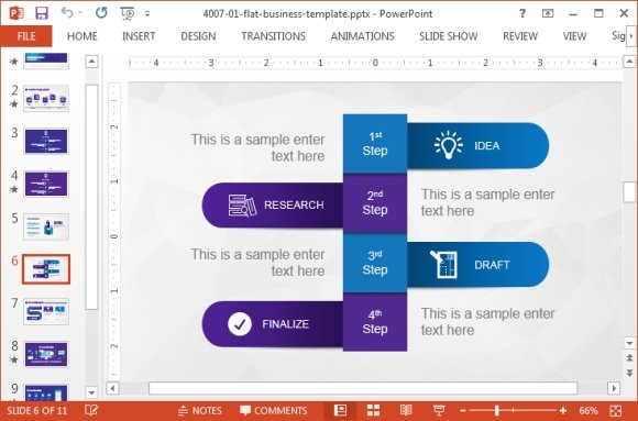 Business PowerPoint Template with Violet Color Palette by ...