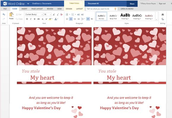 and elegant valentine 39 s day greeting card template for word online